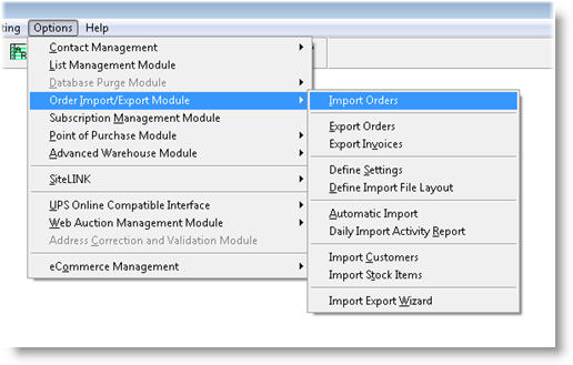 Mail Order Manager - Import Module